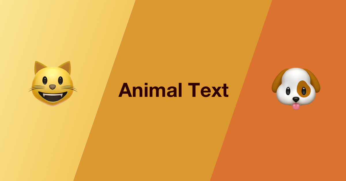 Get a Text of a cute animal