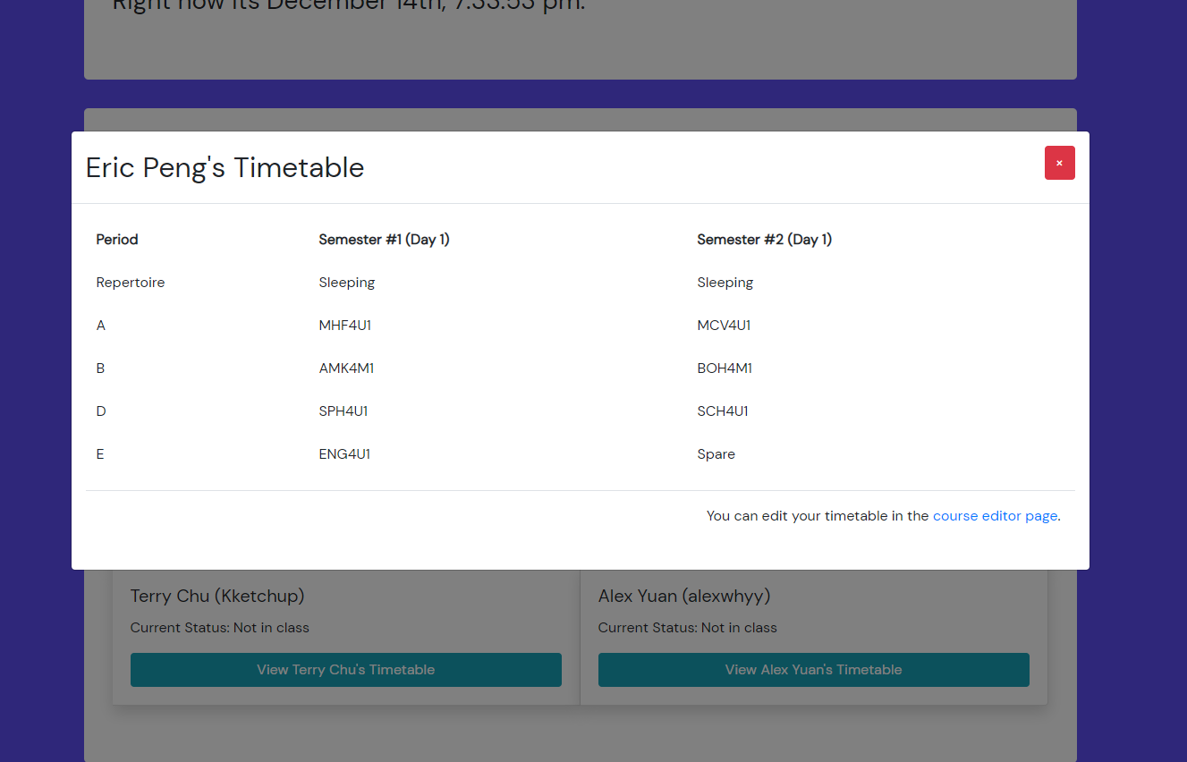 Timetable Viewer