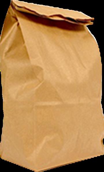a large brown paper bag