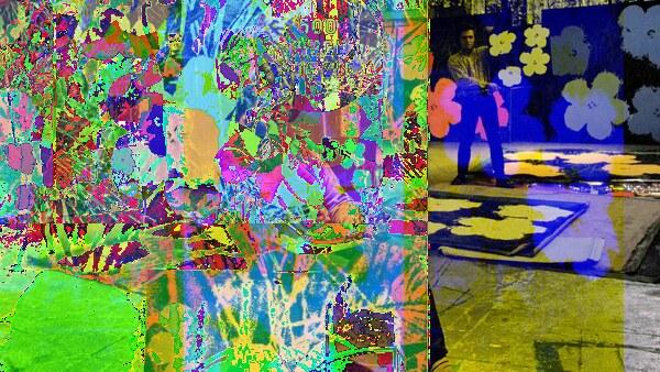 Warhol Flowers, in netart generator