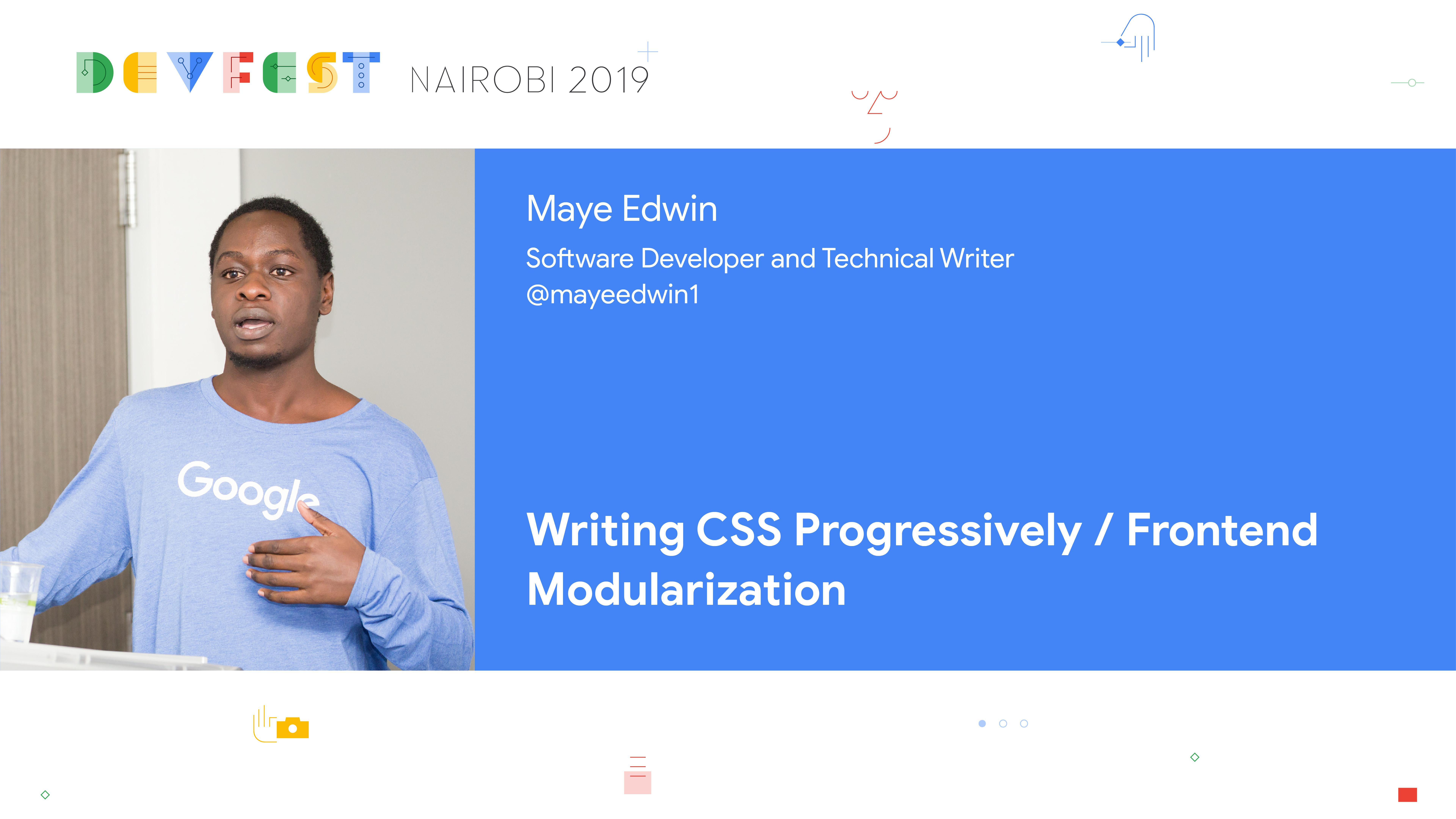 Maye At DevFest Nairobi 2019