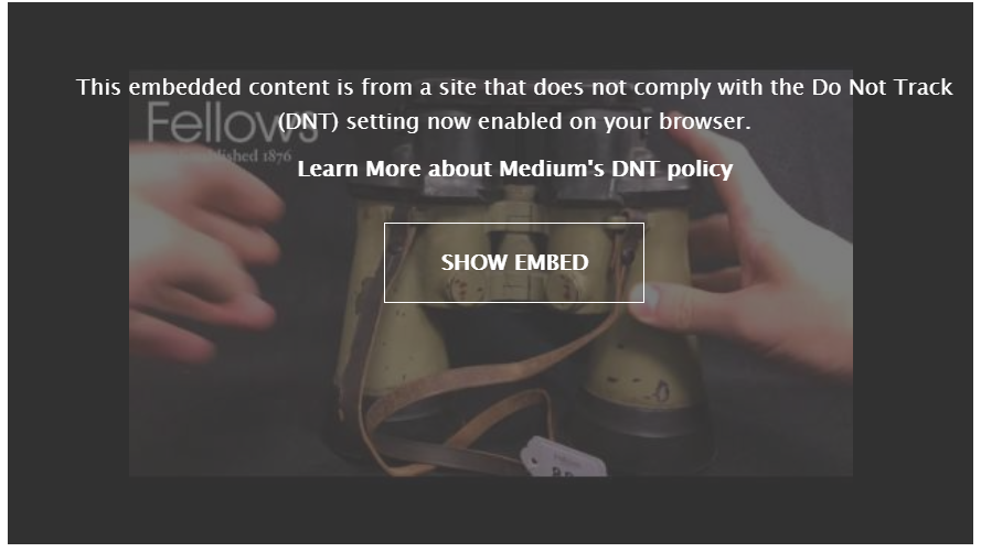 Screenshot of Medium.com's privacy embed