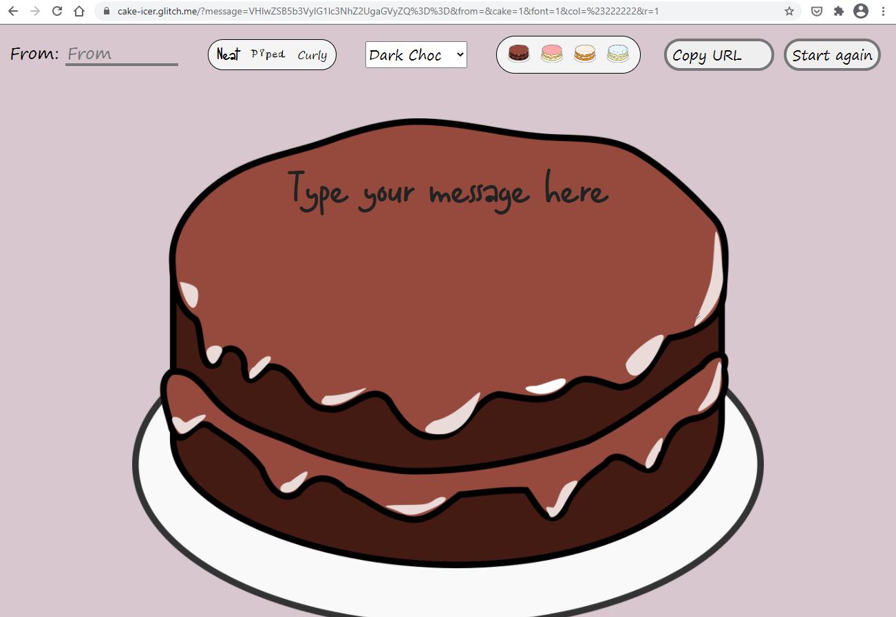 Cake editor