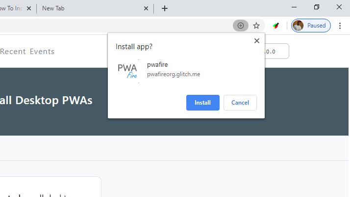 Install Desktop PWAs
