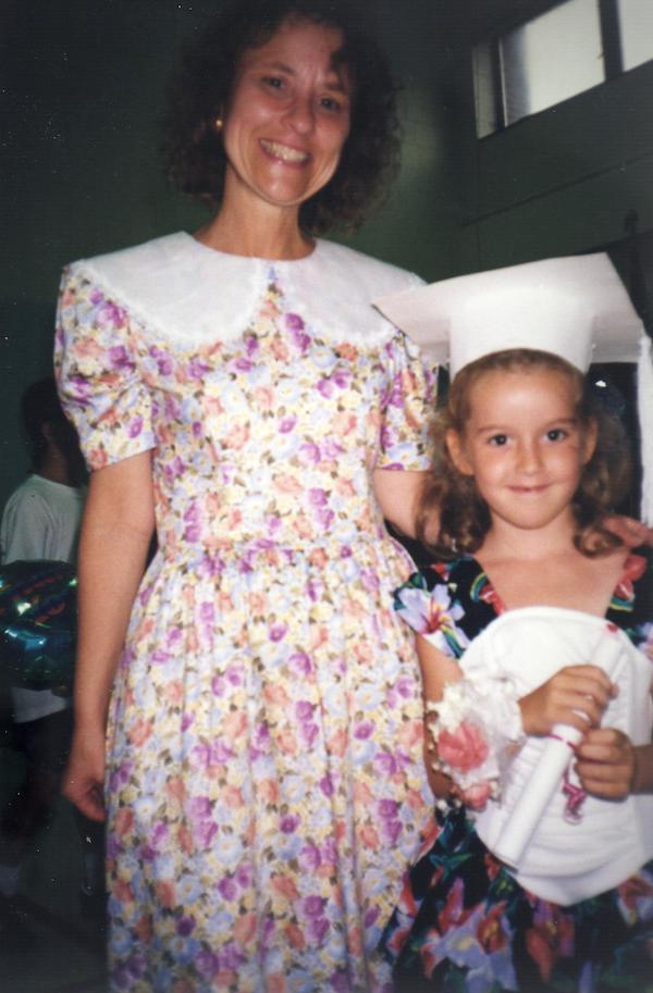 mrs. kotter and me during my kindergarten graduation