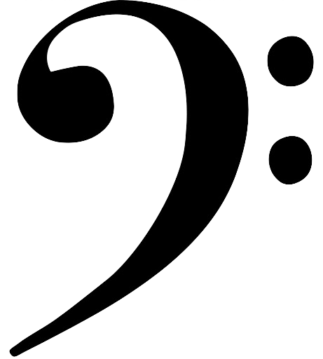 image of a bass clef