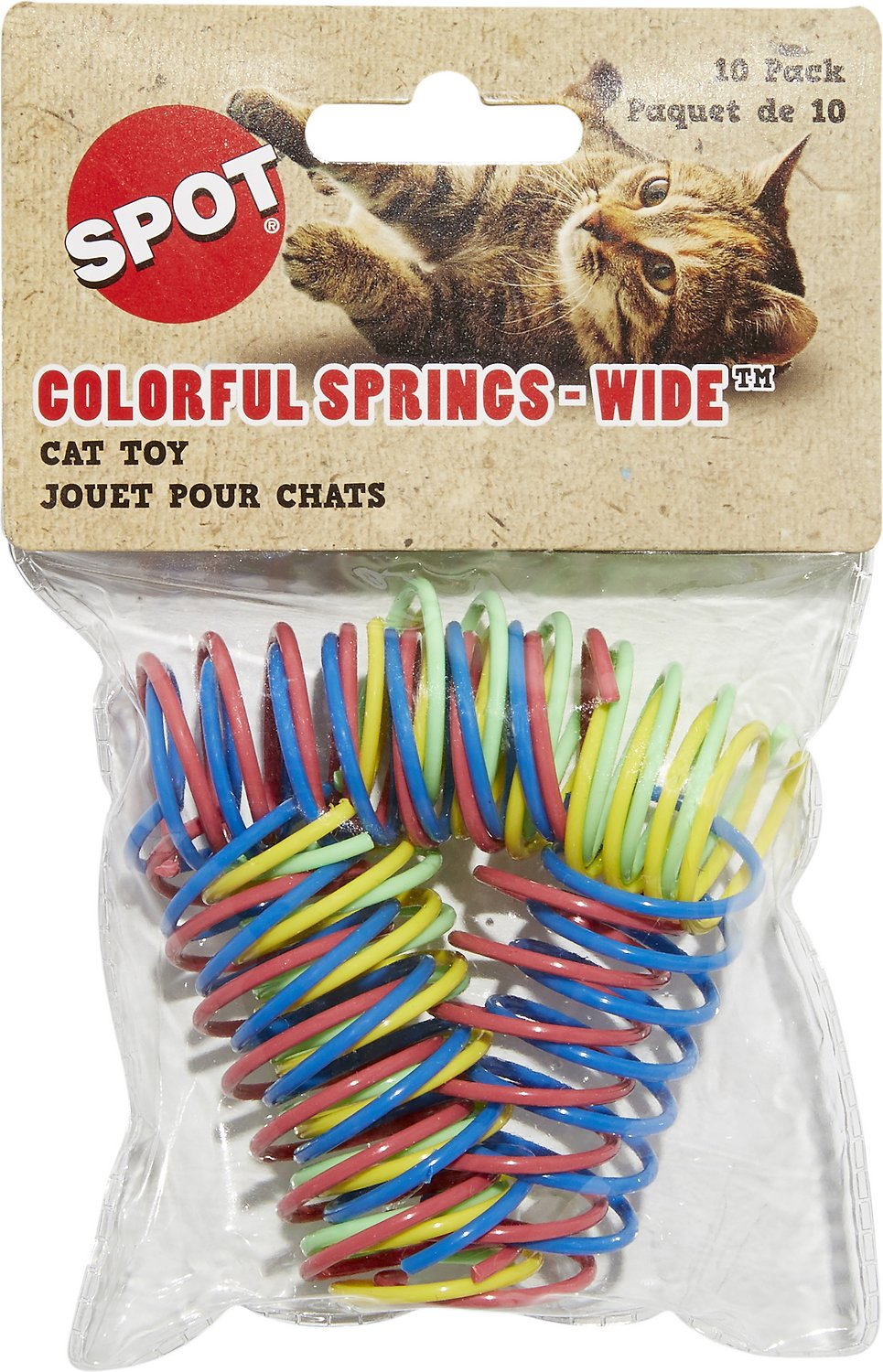 Bag of colorful plastic springs