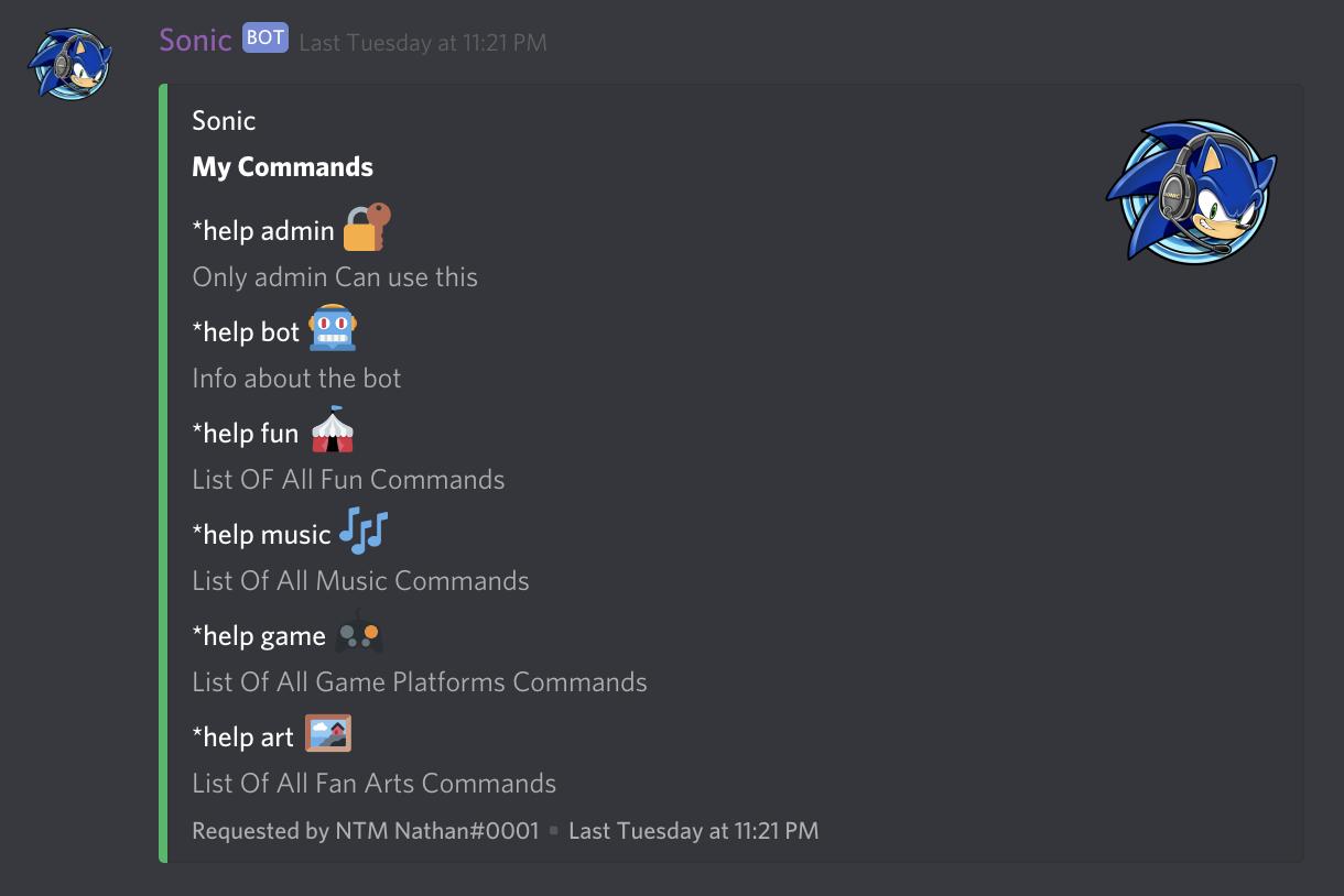 Sonic | Discord Bots