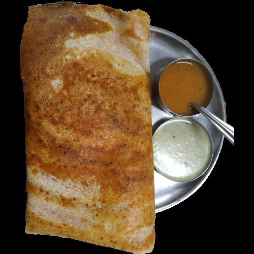 A dosa from Sharda Bhavan on a plate