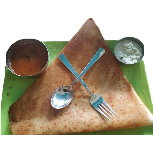A dosa from Swadesh on a plate
