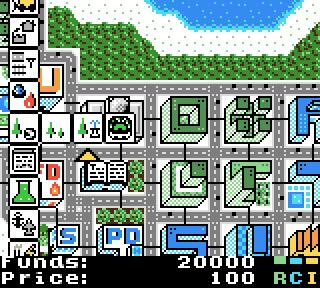 Gameplay screenshot of µCity