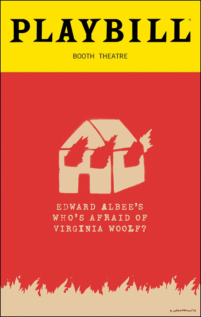 Playbill from Who's Afraid of Virginia Woolf