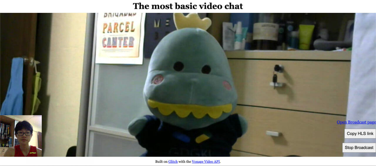 Video chat page