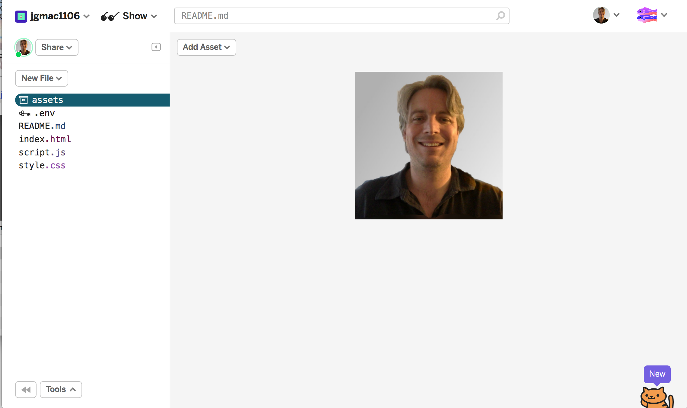 screenshot clicking on assets