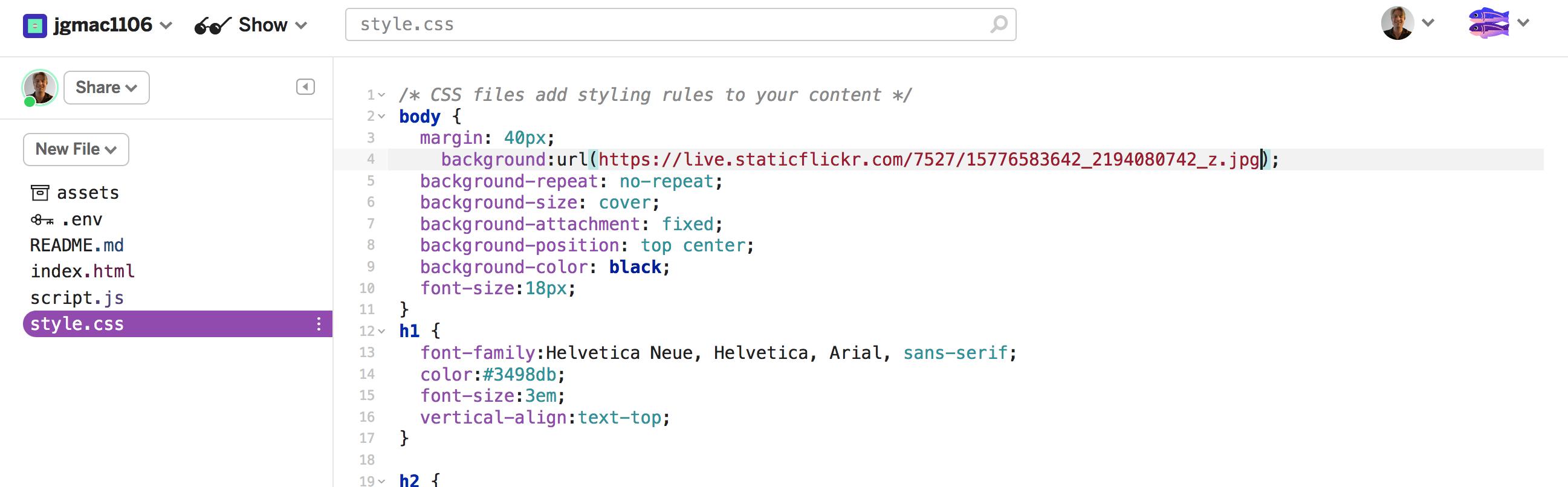 screenshot of new background img source url