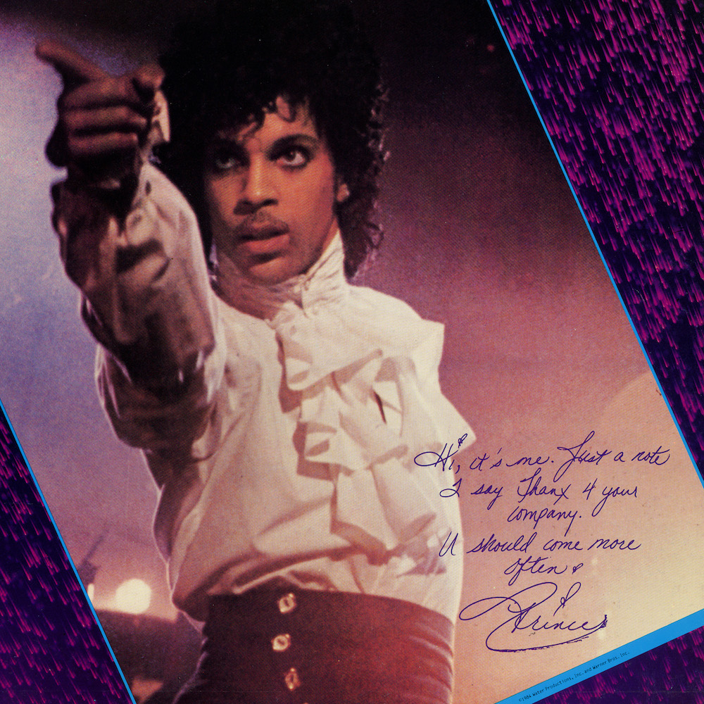 Prince's greeting from the tour book for the Purple Rain tour