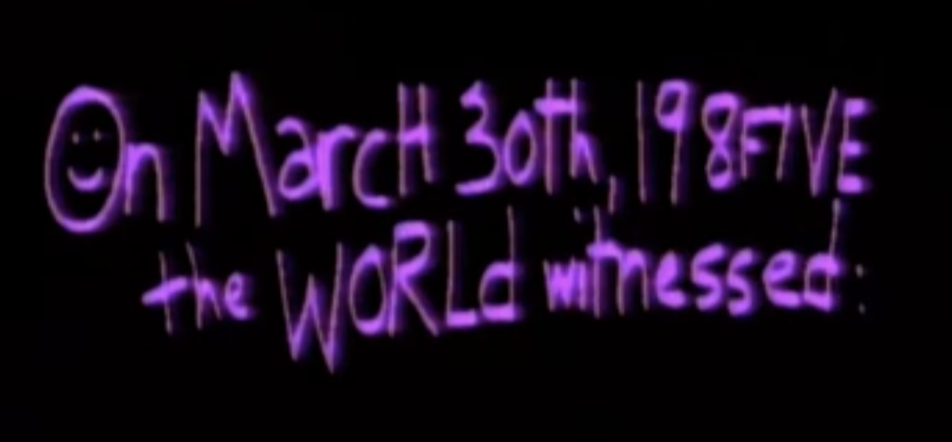 On March 30th, 198FIVE the WORLd witnessed: